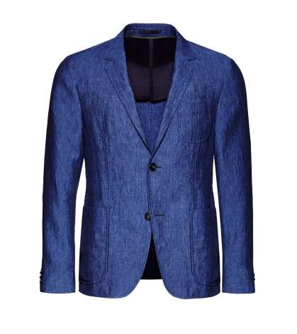 Blue Delave Linen Jacket